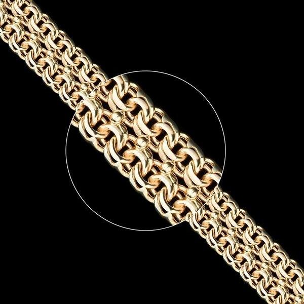 Золотая цепь Плетение Бисмарк двойной