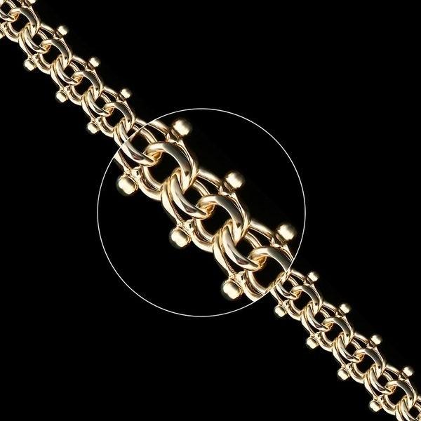 Золотая цепь плетение Гламур