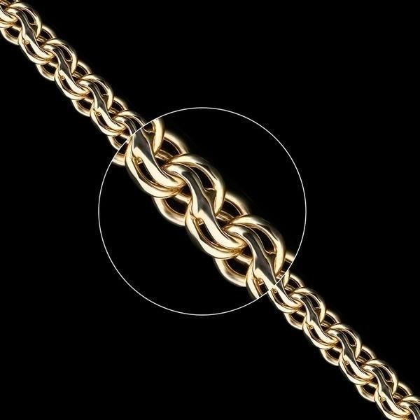 Золотая цепь плетение Ручеек