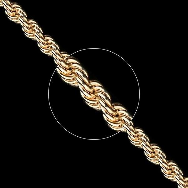 Золотая цепь плетение Веревка