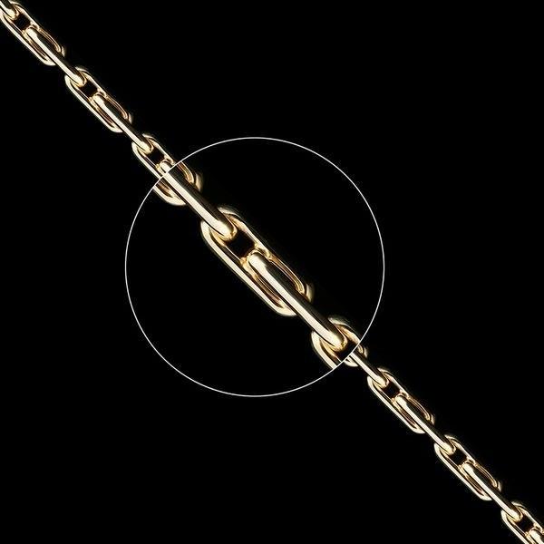 Золотая цепь плетение Якорное 1+1