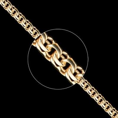 Золотая цепь плетение Бисмарк