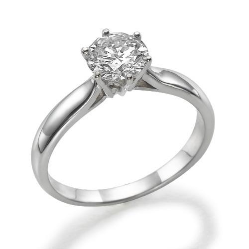Кольцо с бриллиантом 1 карат купить.Модель кольца SE208